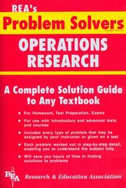 Cover of: The operations research problem solver