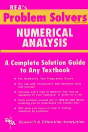 Cover of: The Numerical analysis problem solver