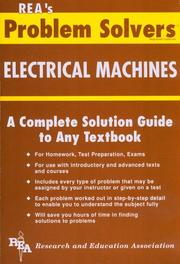 Cover of: Electrical Machines Problem Solver (Problem Solvers)
