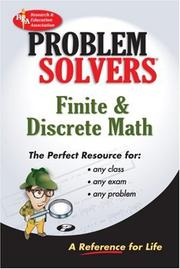Cover of: The Finite mathematics problem solver