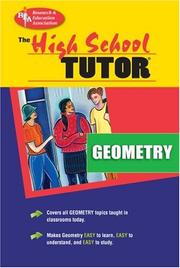 Cover of: High School Geometry Tutor (High School Tutors)