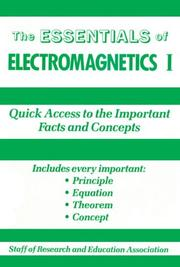 Cover of: Essentials of Electromagnetics, I. (Essentials)