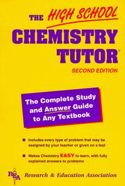 Cover of: High School Chemistry Tutor (High School Tutors)