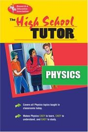 Cover of: The high school physics tutor by