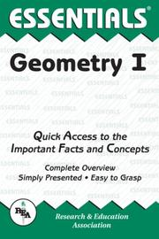 Cover of: The essentials of geometry I