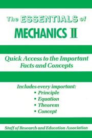 Cover of: Essentials of Mechanics, II (Essentials) | Research and Education Association