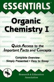 Cover of: The essentials of organic chemistry