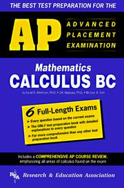 Cover of: Advanced placement examination, calculus BC