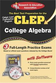Cover of: The best test preparaton for the CLEP college-level examination program : college algebra