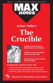 Cover of: The Crucible  (MAXNotes Literature Guides) (MAXnotes)