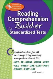 Cover of: Reading Comprehension Builder for Admission and Standardized Tests