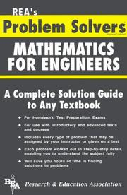 Cover of: The Mathematics for engineers problem solver