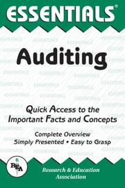 Cover of: The essentials of auditing