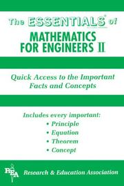 Cover of: Essentials of Mathematics for Engineers 2 (Essentials)