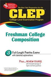 Cover of: CLEP Freshman College Composition (REA) - The Best Test Prep for the CLEP Exam (Test Preps)