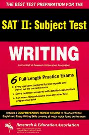 Cover of: The best test preparation for the SAT II, subject test, writing