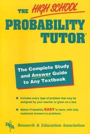 Cover of: The high school probability tutor
