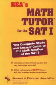 Cover of: Sat Math Tutor (REA) - The Best Test Prep for the SAT