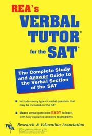 Cover of: The SAT I verbal tutor