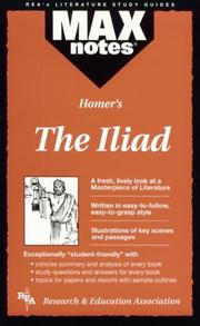Cover of: The Iliad  (MAXNotes Literature Guides) (MAXnotes)