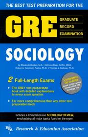 Cover of: The best test preparation for the GRE, sociology