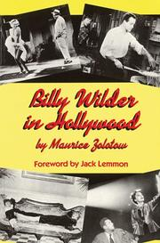 Cover of: Billy Wilder in Hollywood | Maurice Zolotow