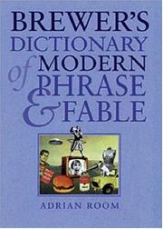 Cover of: Brewer's dictionary of modern phrase & fable | compiled by Adrian Room.
