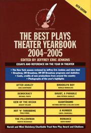 Cover of: The Best Plays Theater Yearbook 2004-2005 (Best Plays) (Best Plays) | Jeffrey Eric Jenkins
