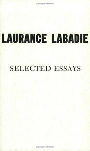 Cover of: Selected essays