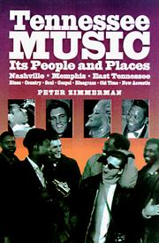 Cover of: Tennessee Music | Peter Coats Zimmerman