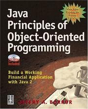Cover of: Java Principles of Object Oriented Programming | Jeffry A. Borror