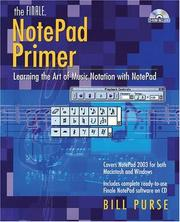 Cover of: The Finale NotePad Primer