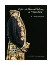 Cover of: Eighteenth-century clothing at Williamsburg
