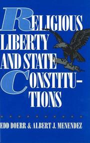 Cover of: Religious liberty and state constitutions