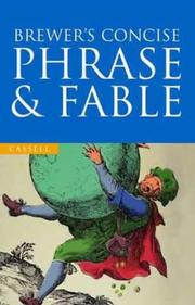 Cover of: Brewer's Concise Dictionary of Phrase and Fable