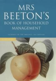 Cover of: Mrs.Beeton's Book of Household Management