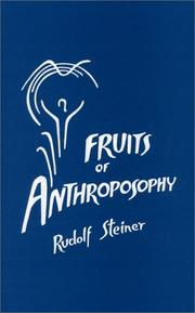 Cover of: Fruits of Anthroposophy | Rudolf Steiner