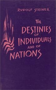 Cover of: Destinies of Individuals and of Nations