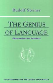 Cover of: The genius of language | Rudolf Steiner