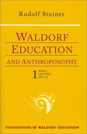 Cover of: Waldorf education and anthroposophy 1 | Rudolf Steiner