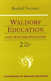 Cover of: Waldorf education and anthroposophy 2 | Rudolf Steiner