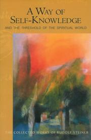 Cover of: A Way of Self-Knowledge | Rudolf Steiner