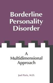 Cover of: Borderline personality disorder