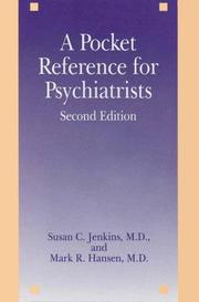 Cover of: A pocket reference for psychiatrists