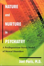 Cover of: Nature and nurture in psychiatry