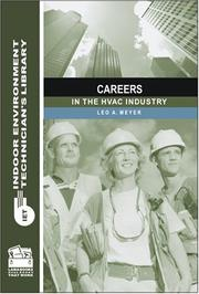 Cover of: Careers in the HVAC Industry (Indoor Environment Technician