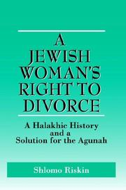 Cover of: Jewish Woman's Right to Divorce