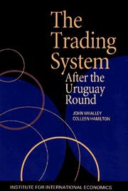 Cover of: The trading system after the Uruguay Round