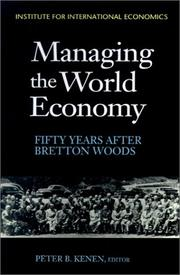 Cover of: Managing the World Economy