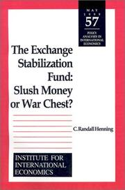 Cover of: The Exchange Stabilization Fund | C. Randall Henning